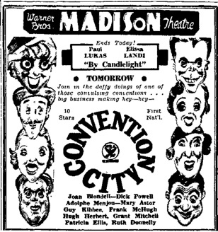 convention city Most Popular Movie in 1920 manfield ohio news january 20 1934