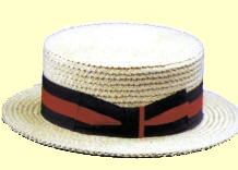 A tip of the Jazz Age 1920's Skimmer Straw Hat